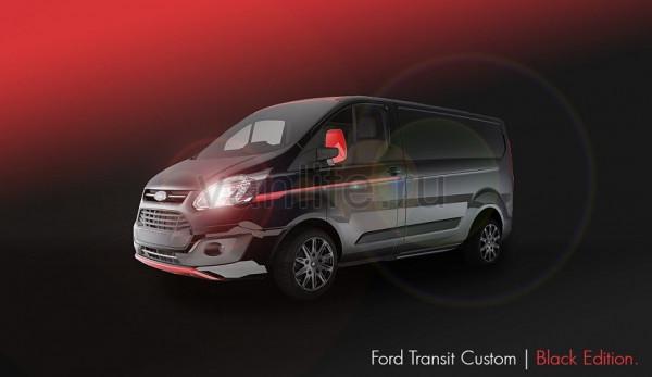 Ford Transit Custom представлен в новой стильной версии Black Edition